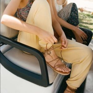 NWT Urban Outfitters Brown Suede Wrap Sandal